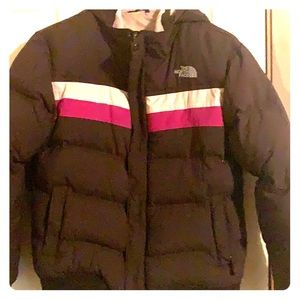Girls size large Down North face Puffer jacket